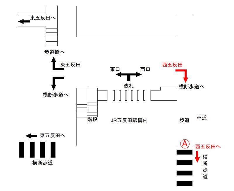 JR五反田駅構内案内図