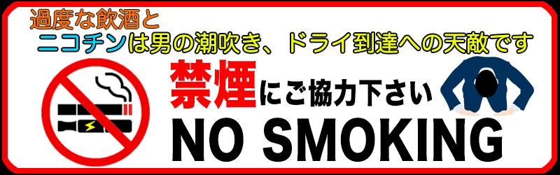 過度な飲酒とニコチンは男の潮吹き、ドライ到達への天敵です。禁煙にご協力ください
